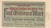 5,000,000 Mark (Bayerische Notenbank) – obverse