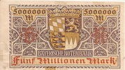 5,000,000 Mark (Bayerische Notenbank) – reverse
