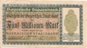 5,000,000 Mark (Bayerische Staatsbank) – obverse