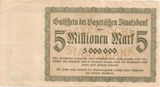 5,000,000 Mark (Bayerische Staatsbank) – reverse