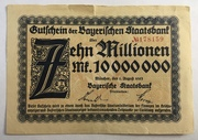10,000,000 Mark (Bayerische Staatsbank) – obverse