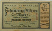 25,000,000 Mark (Bayerische Notenbank) – obverse