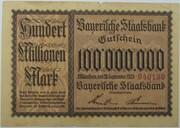 100,000,000 Mark (Bayerische Staatsbank) – obverse