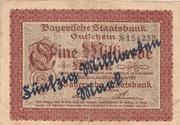 50,000,000,000 Mark (Bayerische Staatsbank, overprint on 1,000,000,000 Mark) – obverse