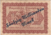 50,000,000,000 Mark (Bayerische Staatsbank, overprint on 1,000,000,000 Mark) – reverse