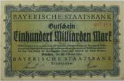 100,000,000,000 Mark (Bayerische Staatsbank) – obverse