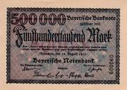 500,000 Mark  (Bayerische Notenbank) – obverse