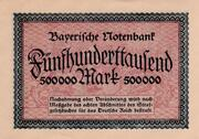 500,000 Mark  (Bayerische Notenbank) – reverse