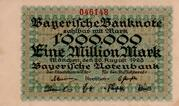 1,000,000 Mark (Bayerische Notenbank) – obverse