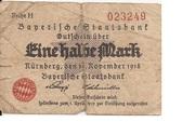 1/2 Mark (Bayerische Staatsbank) – obverse