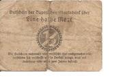 1/2 Mark (Bayerische Staatsbank) – reverse