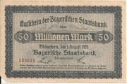 50,000,000 Mark (Bayerische Staatsbank) – obverse