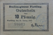 10 Pfennig (Plattling) – obverse