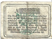 10 Pfennig (Homburg in der Pfalz) – reverse