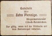 10 Pfennig (Erbach-Reiskirchen) – obverse