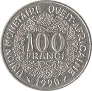 100 Francs CFA -  reverse