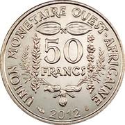 50 Francs CFA (magnetic) – reverse