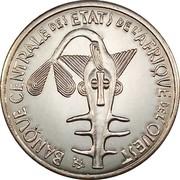 100 Francs CFA (magnetic) – obverse