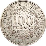 100 Francs CFA (magnetic) – reverse