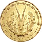 5 Francs CFA – obverse