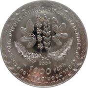 1000 Francs CFA (Soccer World Championship 2006) – reverse