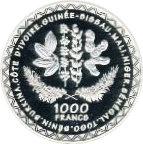 1000 Francs CFA – reverse