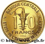 10 Francs CFA (Essai) -  reverse