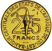 25 Francs CFA (FAO; Essai) – obverse
