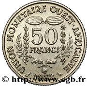 50 Francs CFA (non magnetic; Essai) – reverse