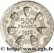 500 Francs CFA (Monetary Union; Essai) – reverse