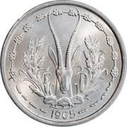 1 Franc CFA – obverse