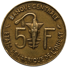 5 Francs CFA – reverse