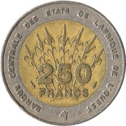 250 Francs CFA – reverse