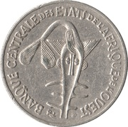 50 Francs CFA (non-magnetic) – obverse