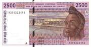 2 500 Francs -  obverse