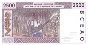 2 500 Francs -  reverse
