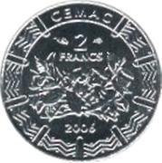 2 Francs CFA – obverse