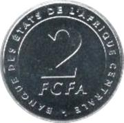 2 Francs CFA – reverse