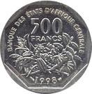 500 Francs CFA – reverse