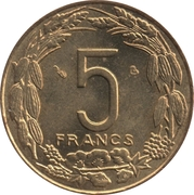 5 Francs CFA -  reverse