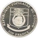 500 Francs CFA (Spanish Galleon) – obverse