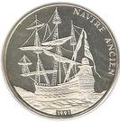 500 Francs CFA (Spanish Galleon) – reverse