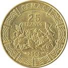 25 Francs CFA – reverse