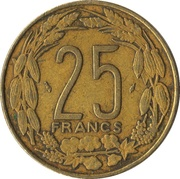 25 Francs CFA -  reverse