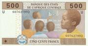 500 Francs – obverse