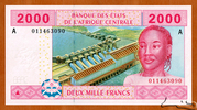 2,000 Francs – obverse
