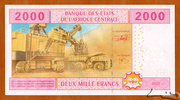 2,000 Francs – reverse