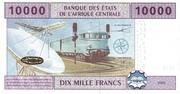 10 000 Francs – reverse