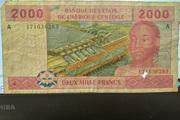 2000 Francs – obverse