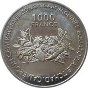 1000 Francs CFA (Introduction Euro) – reverse